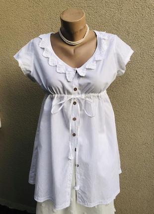 Белая блуза,рубашка с вышивкой,кружево,хлопок,