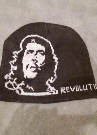 Двойная вязаная шапка чегевара