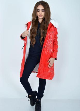 Куртка женская 103R061 цвет Красный
