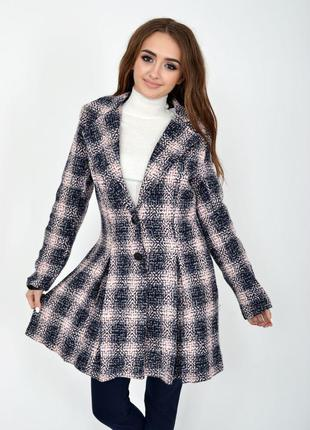 Пальто женское 104R1269 цвет Сине-розовый