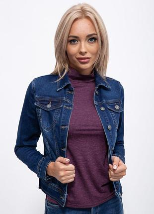 Джинсовая куртка 123R17837 цвет Темно-синий