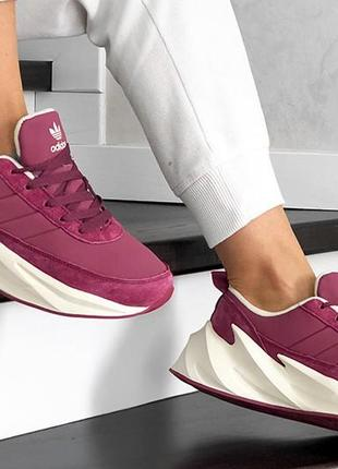 Зимние кроссовки adidas sharks на меху зима женские ботинки кр...