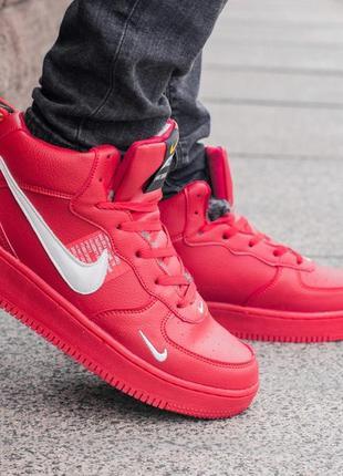 Nike air force 1 off-white red, зимние мужские кроссовки найк ...