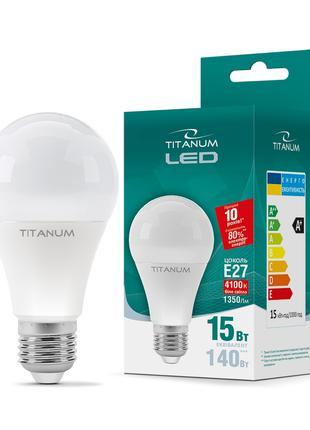 LED лампа TITANUM A65 15W E27 4100K