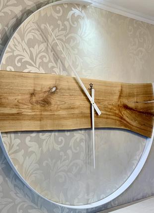 Эксклюзивные настенные часы Ø100см Черешня с эпоксидной смолой...