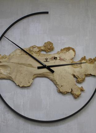 """Эксклюзивные настенные часы """"Fransua"""" 90см Клён каповый"""