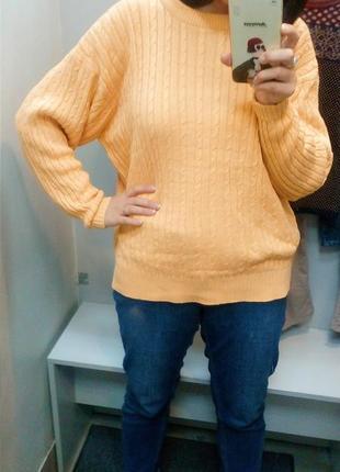 Джемпер, кофта жолтого цвета, объемные рукава sale