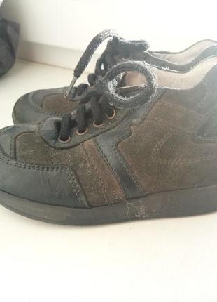 Итальянские кроссовки кожа для мальчика 24 размер