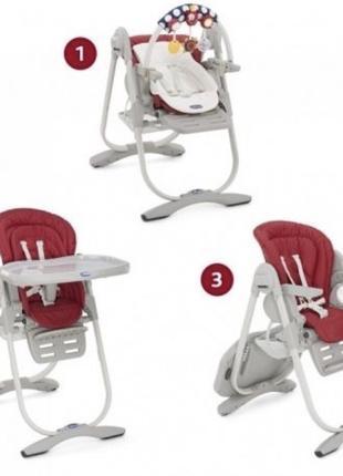 Детский стульчик Chicco Polly Magic 0+,  3в 1