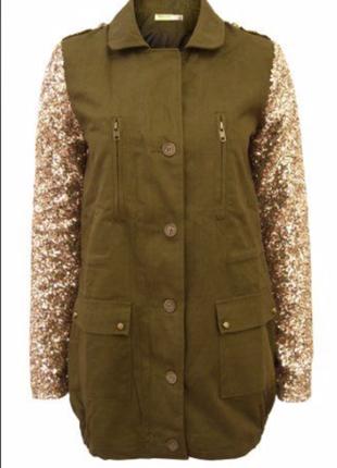 Vera&lucy новая куртка парка с пайетками - тонкая