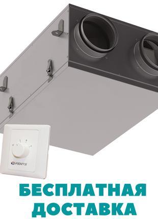 Приточно-вытяжная установка с рекуперацией ВЕНТС ВУТ 100 П мини