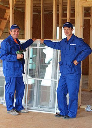 Монтаж, установка и регулировка м/п окон и дверей. Изготовление с