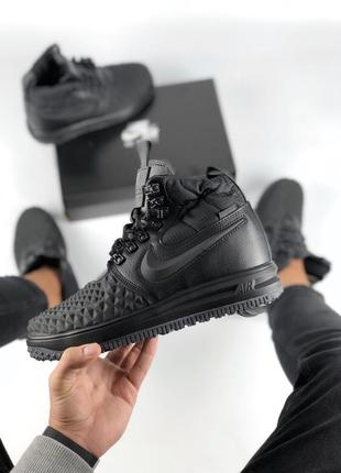 Кроссовки nike lunar force 1 duckboot '17 black (арт.11678)