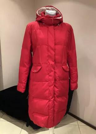 Пуховое пальто пуховик marc aurel  размер хл