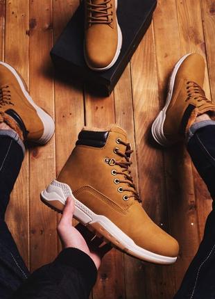 Зимняя Обувь Мужские Ботинки на Меху Нубук (40-45) Timberland
