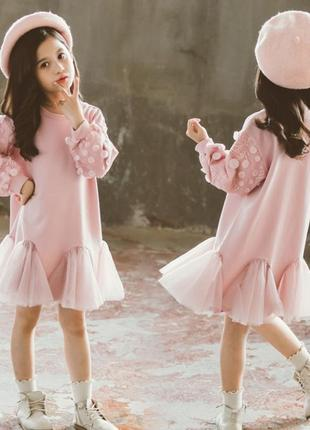 Красивое платье на флисе