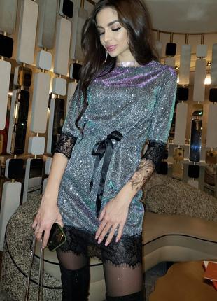 Платье яркое, блестящее для Нового года