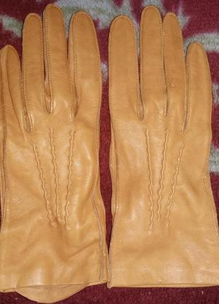 Кожаные перчатки без подкладки, полуспорт
