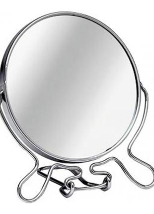 Зеркало металлическое круглое 2-х стороннее 7 дюймов 418-7