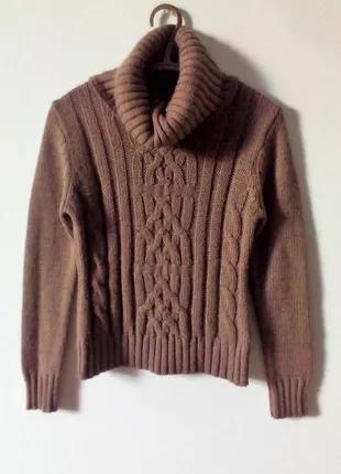 Зимний свитер 30% шерсть