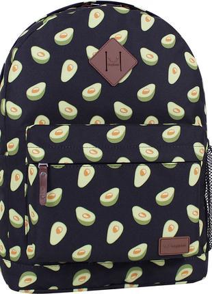 Городской женский рюкзак черный с ярким принтом 17 л. рюкзачок...