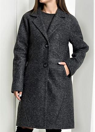 Теплое пальто, шерсть 83%+мохер 7% новое!