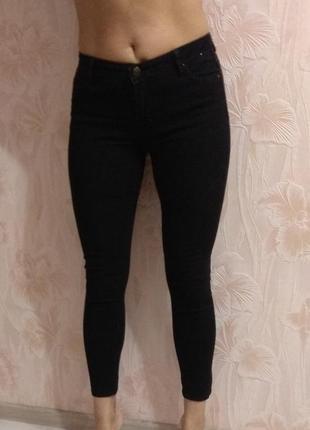 Классные фирменные чёрные джинсы denim co р. 44-46