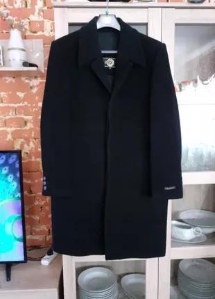 Шикарное стильное теплое кашемировое с карманами пальто большо...