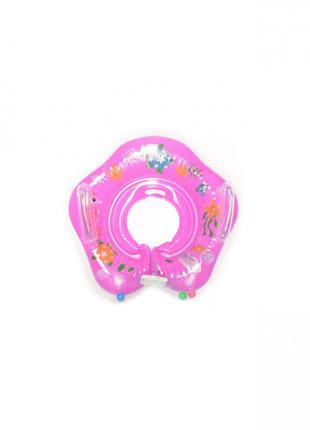 Детский круг для купания MS 0128 (Розовый)