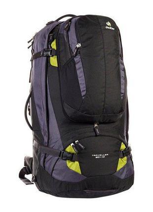 Рюкзак Deuter Traveller 80 + 10 цвет 7260 black-moss (3510215 ...