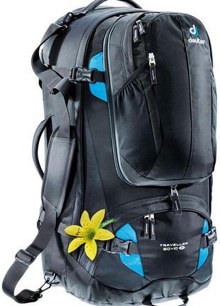Рюкзак Deuter Traveller 60 + 10 SL цвет 7321 black-turquoise (...