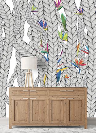 Дизайнерское панно в холл, коридор, лоджию Weave & Flowers