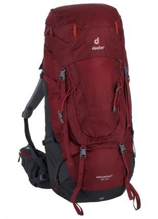 Рюкзак Deuter Aircontact 45 + 10 цвет 5425 cranberry-graphite ...