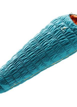 Спальный мешок Deuter Exosphere -10° SL 3911 petrol-mango левы...