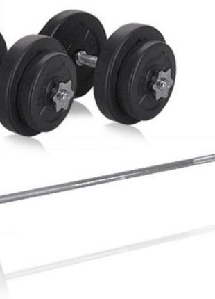 Набор Штанга 42 кг и гантели по 10 кг Rn-Sport