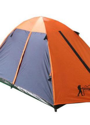 Палатка кемпинговая 3-х местная с тентом и коридором Tourist (...