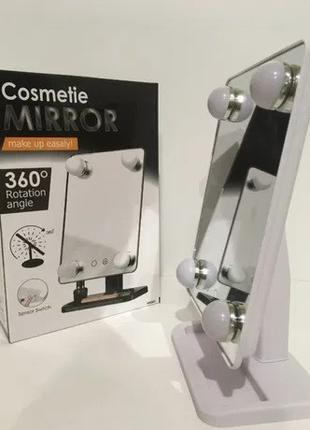 Зеркало с подсветкой для макияжа Cosmetie mirror 360 Rotation ...