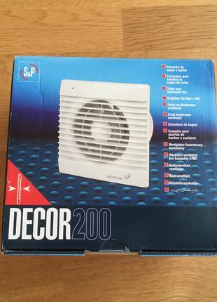 Вентилятор вытяжной SOLER&PALAU DECOR-200 C