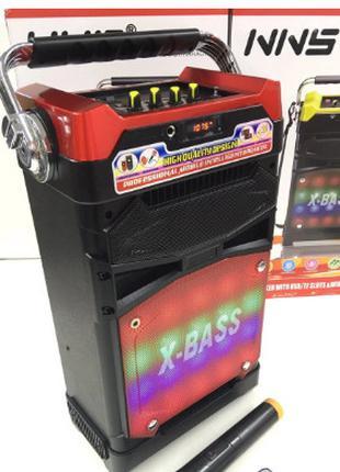 Колонка С Радиомикрофоном Бумбокс NS-1389BT Радио Аккумулятор ...