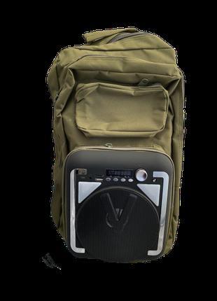 Рюкзак туристический Бумбокс (рюкзак со встроенной колонкой) C...