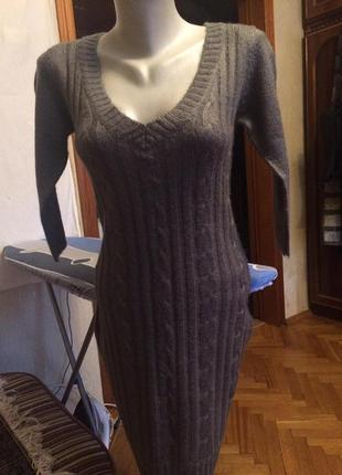 Теплое вязаное платье,шерсть от бренда only