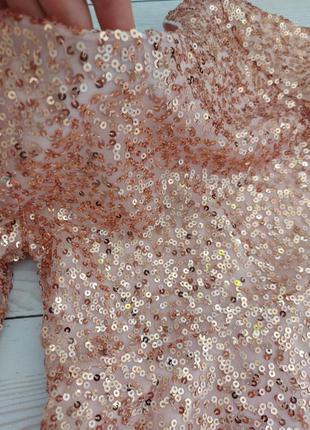 Святкова сукня в паєтках