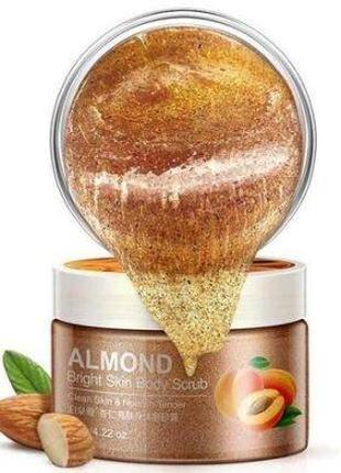 Скраб для тела с миндалём и абрикосом Bioaqua Almond Bright Sk...
