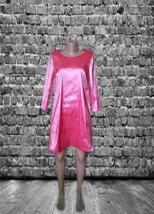 Нарядное розовое платье трапеция