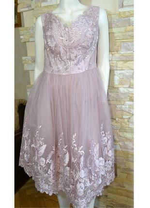 Р.52-54 нарядное / свадебное платье на пышную грудь,1000 пар о...