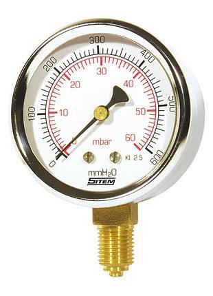 Манометр Icma для газу, нижнє підключення №282