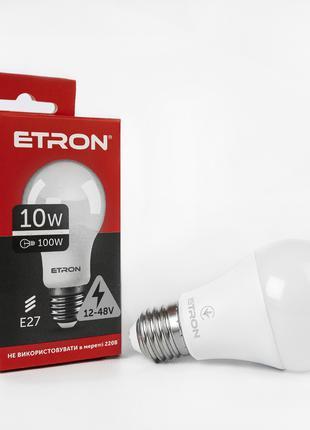 LED лампа ETRON Light 1-ELP-1248 A60 10W 12V-48V 4000K E27