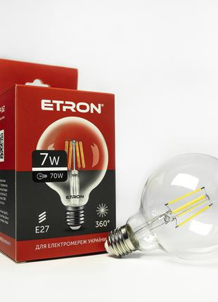 LED лампа ETRON Filament 1-EFP-162 G95 E27 7W 4200K прозора