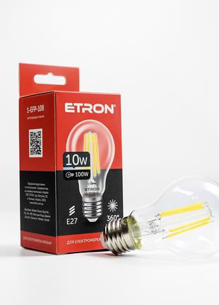 LED лампа ETRON Filament 1-EFP-108 A60 10W 4200K E27 прозора
