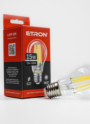 LED лампа ETRON Filament 1-EFP-104 A60 15W 4200K E27 прозора